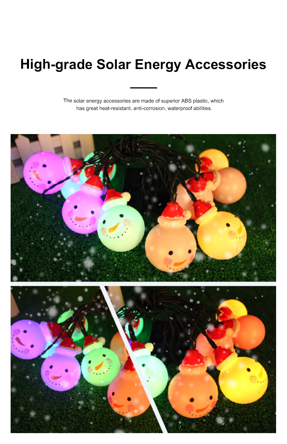 Cute Delicate 10 20 30 Leds Cozy Romantic Snowman Lights String Christmas Lamps Party Courtyard Decoration Ornaments 3