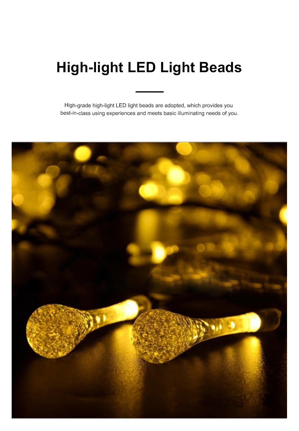 Creative 4m 20 LEDs / 5m 30 LEDs /7m 50 leds Bubble Light Solar Power Drop-Shaped LED Lights String Lamp Party Courtyard Christmas Decoration Ornaments 3