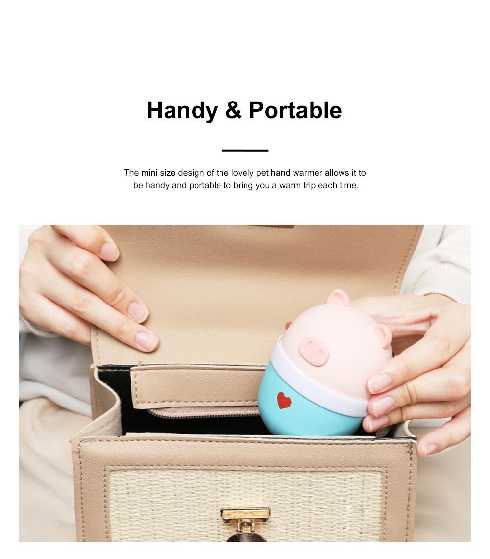 Lovely Pet Hand Warmer Mini Portable Soft Hand Warmer Large Capacity Portable Power Bank Christmas Gift 5
