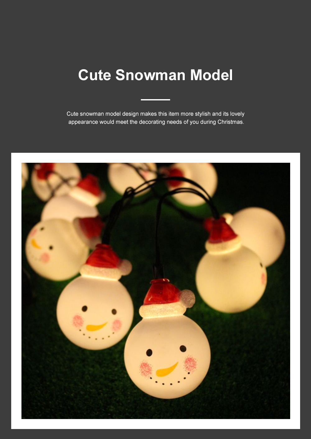 Cute Delicate 10 20 30 Leds Cozy Romantic Snowman Lights String Christmas Lamps Party Courtyard Decoration Ornaments 2