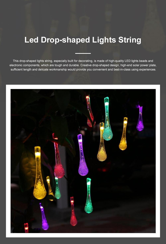 Creative 4m 20 LEDs / 5m 30 LEDs /7m 50 leds Bubble Light Solar Power Drop-Shaped LED Lights String Lamp Party Courtyard Christmas Decoration Ornaments 0