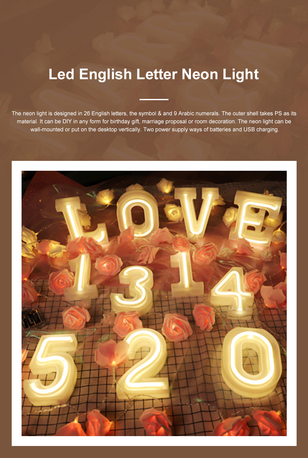 Hot LED Letter Arabic Numeral Neon Light for Marriage Proposal Birthday LED Decorative Night Light DIY String Light Halloween Christmas Decoration Lamp 0