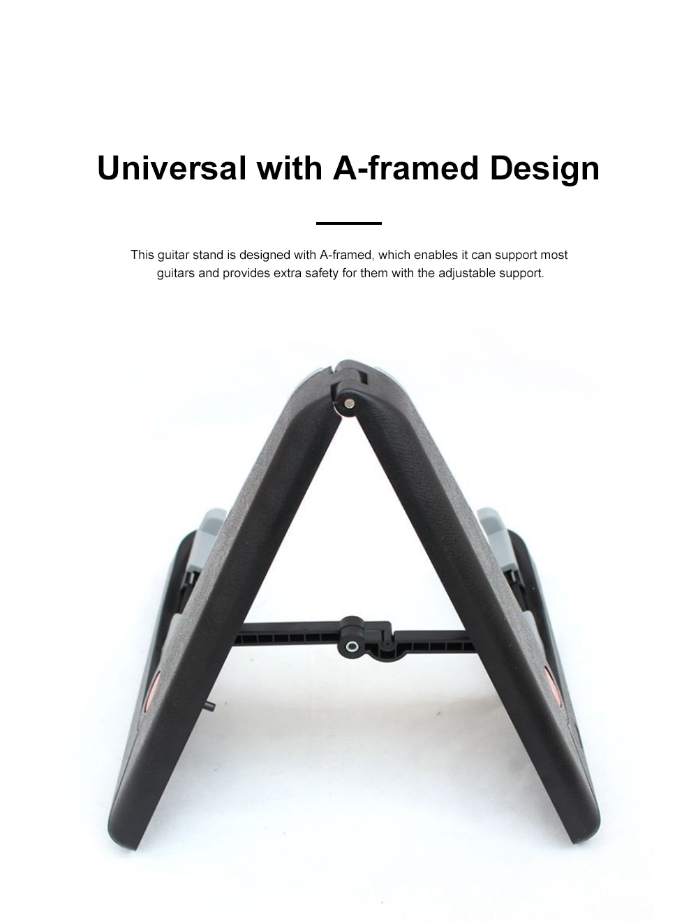 Stable Guitar Stand Adjustable A-Frame Guitar Instrument Stand Acoustic Electric Classical Guitar Holder 1