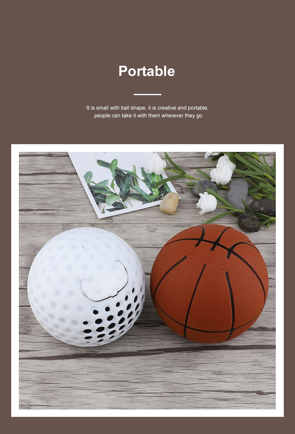 Basketball Football Baseball Golf Subwoofer Loudspeaker Blue Tooth Tf Card Mp3 Mini Wireless Portable Speaker 4