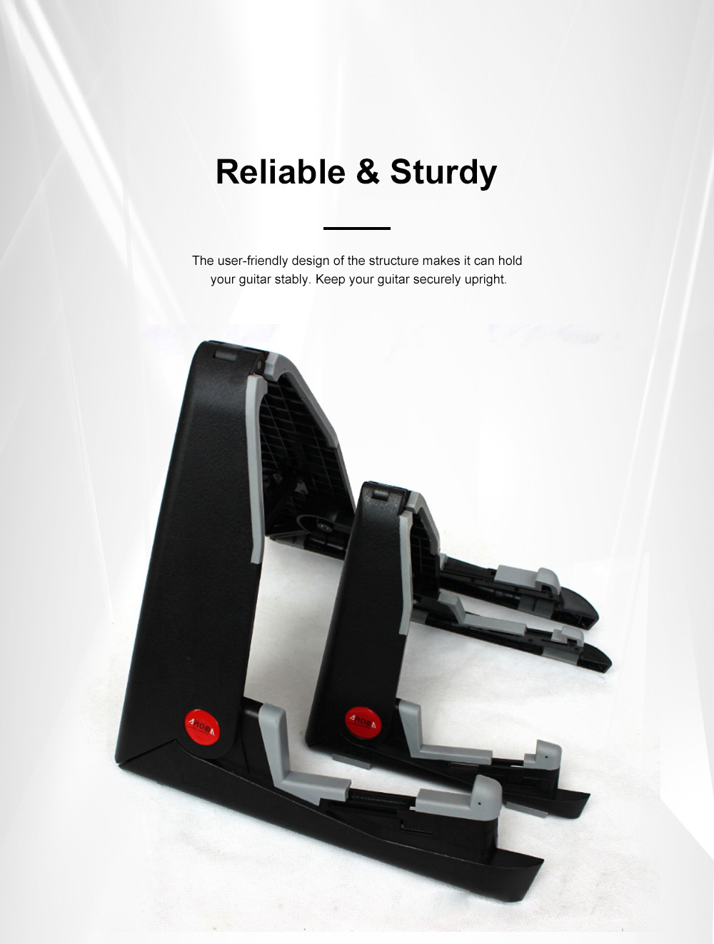 Stable Guitar Stand Adjustable A-Frame Guitar Instrument Stand Acoustic Electric Classical Guitar Holder 2