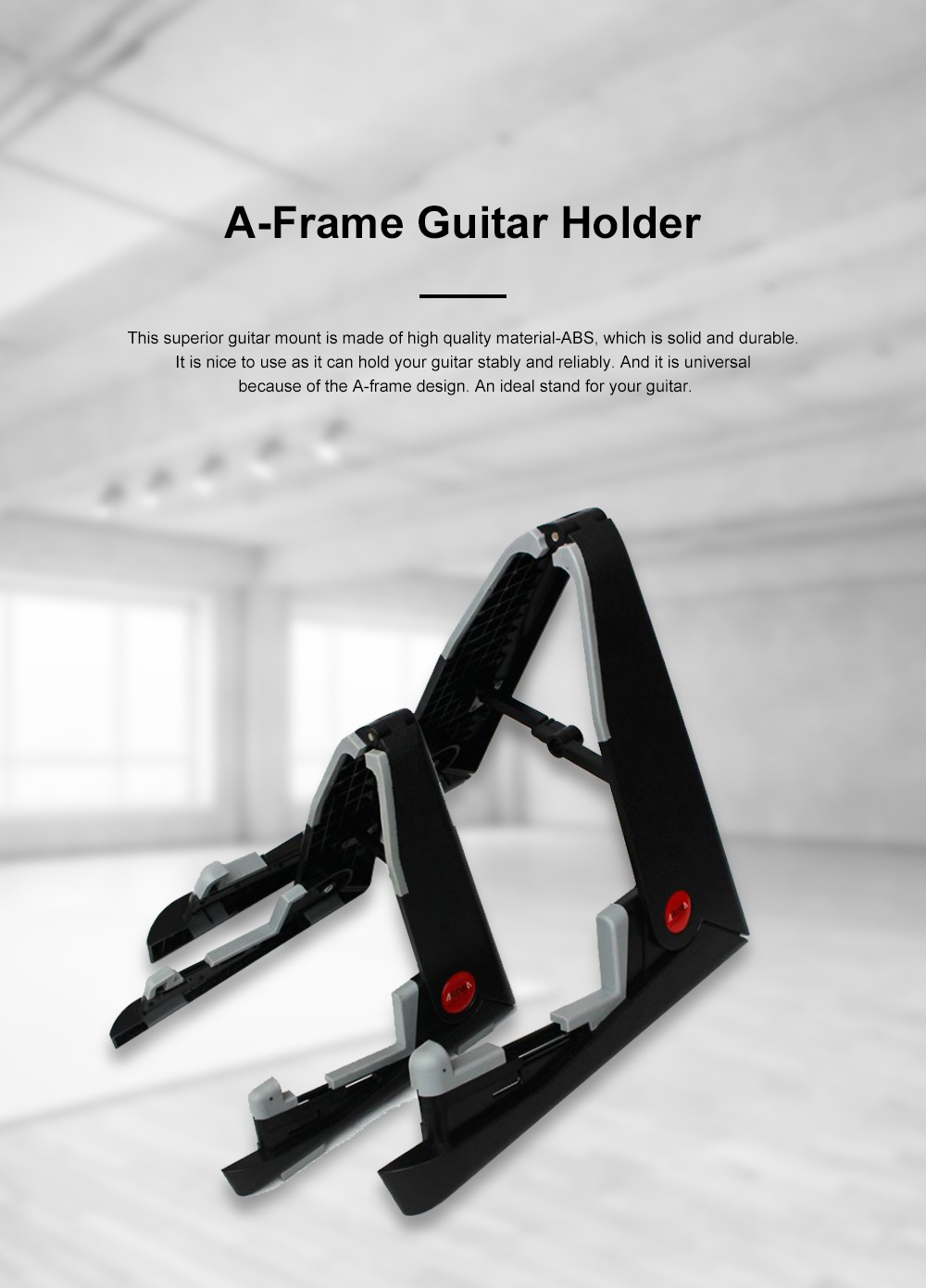 Stable Guitar Stand Adjustable A-Frame Guitar Instrument Stand Acoustic Electric Classical Guitar Holder 0