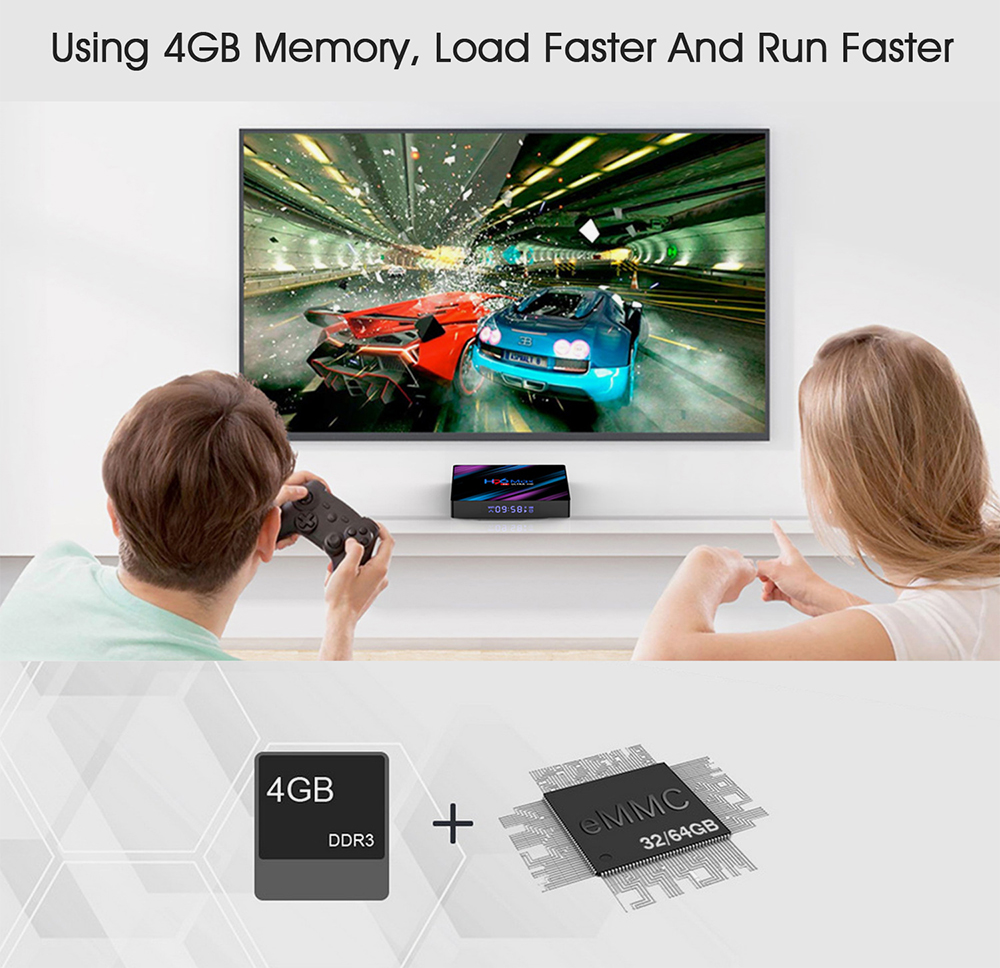 H96 MAX 4/32GB 4K Smart TV Box Cheapest 4GB RAM RK3318 Android 9.0 Media Streamer 3