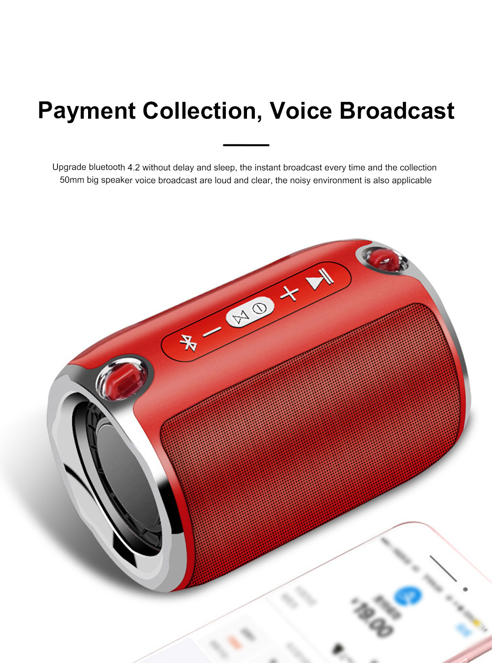 Column Bluetooth Speaker Special Rotary Knob Subwoofer Outdoor Portable Wireless Mini Card Mini Speaker HIFI Gift 6