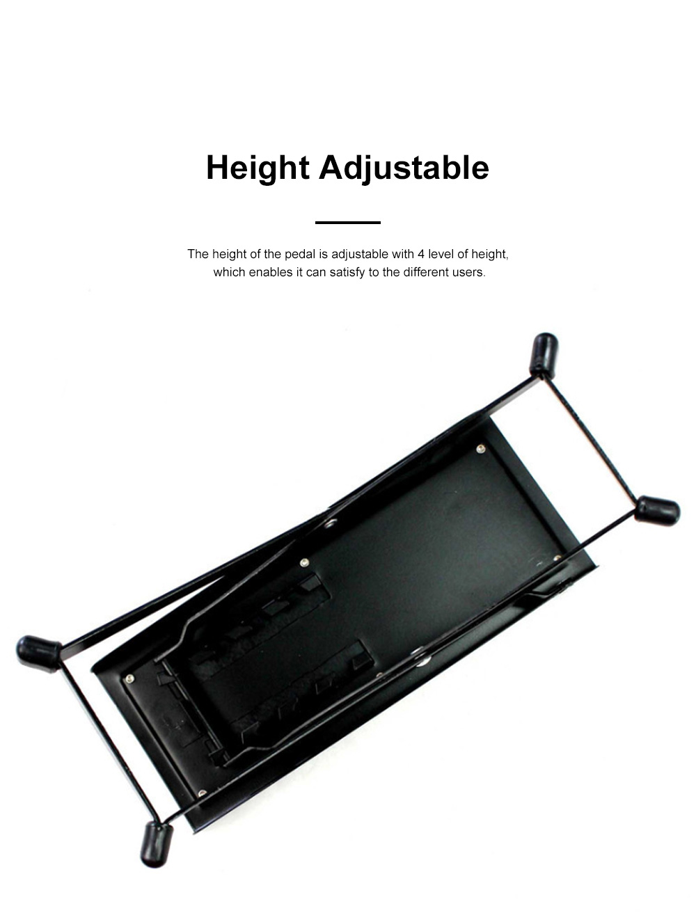 Solid Guitar Footstool Foot Rest 4-Level Adjustable Height Footstool Pedal Heavy Duty Metal Anti-slip Classical Pedal 1