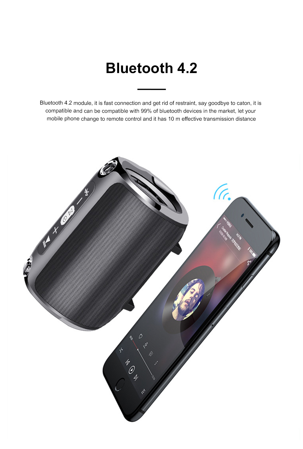 Column Bluetooth Speaker Special Rotary Knob Subwoofer Outdoor Portable Wireless Mini Card Mini Speaker HIFI Gift 4