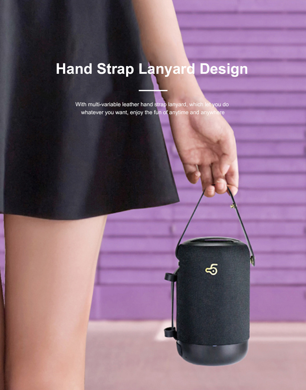 New Design Outdoor Portable Wireless Mini Portable Bluetooth Speaker Stereo Support TF Card Usb Charge Radio Subwoofer With Shoulder Strap 5