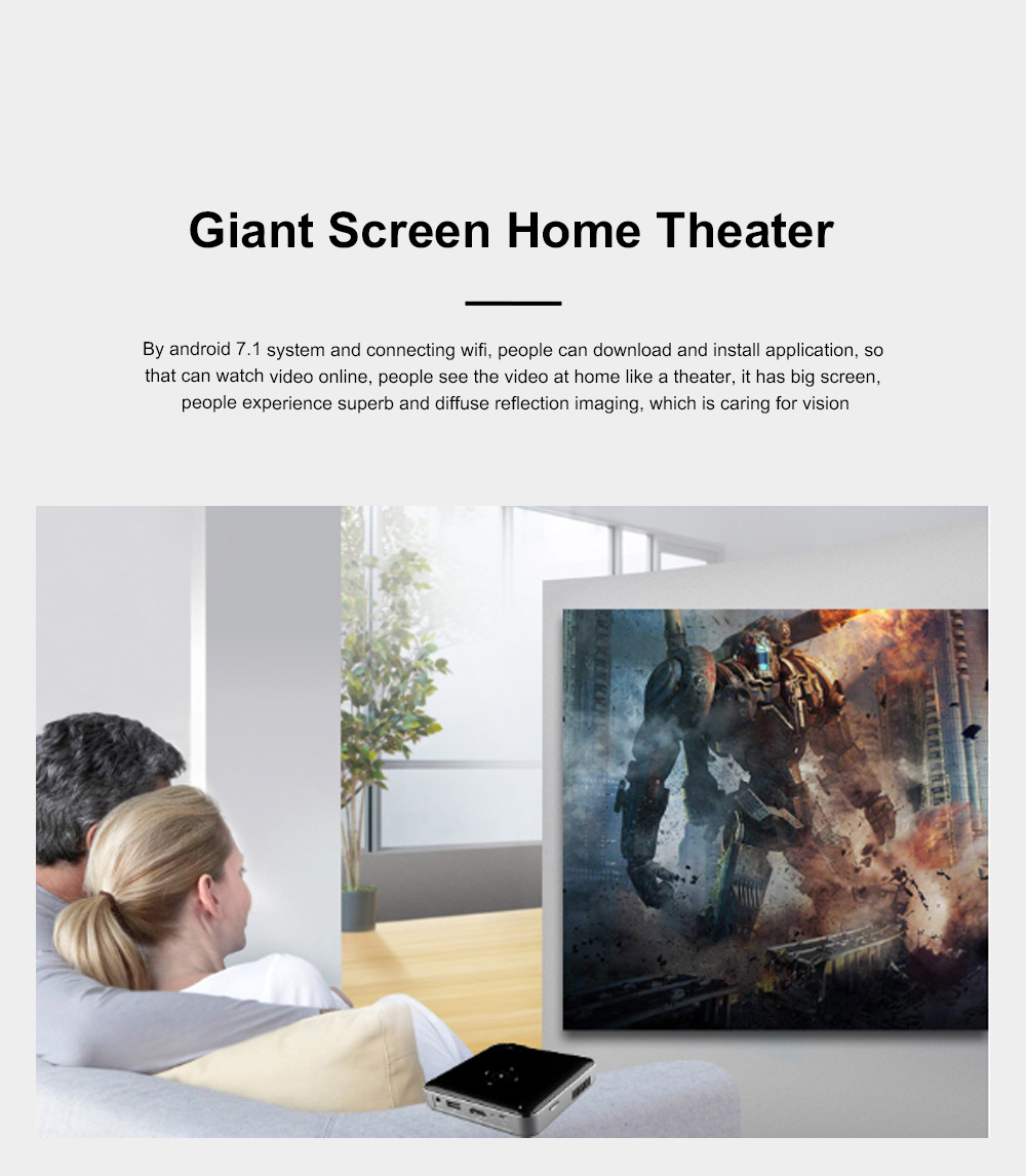 S80 Android Smart Projector HD 1080P 854x480 Wireless Miracast Airplay Wifi Display Smartphone Mini Pocket Projector 8