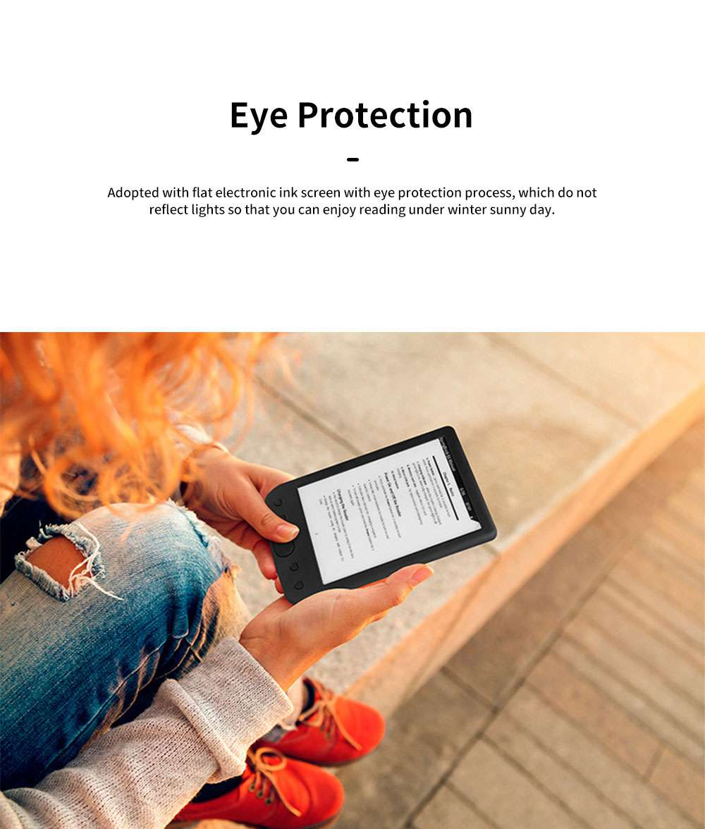 6 inch Ebook Reader for Kids Students E-book Reader for Studying Reading Students Portable Eye Protection Electronic Books Reader with Flat Screen Support WIFi 4