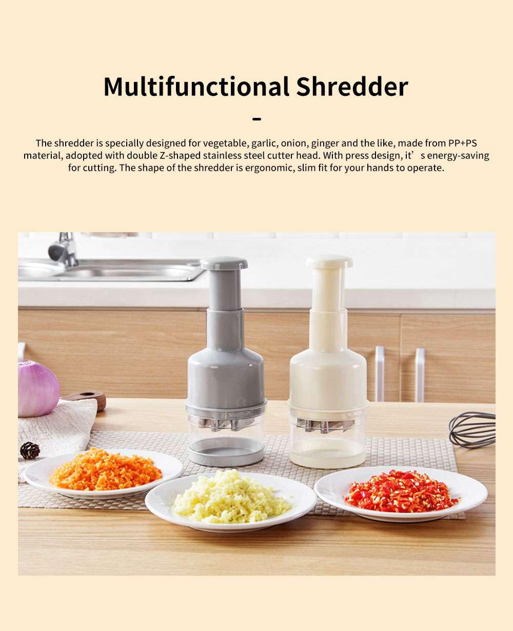Multifunctional Shredder for Garlic Onion Ginger Home Use Garlic Press Vegetable Cracker Meat Chopper Cutter, Kitchen Multifunction Cutter 0