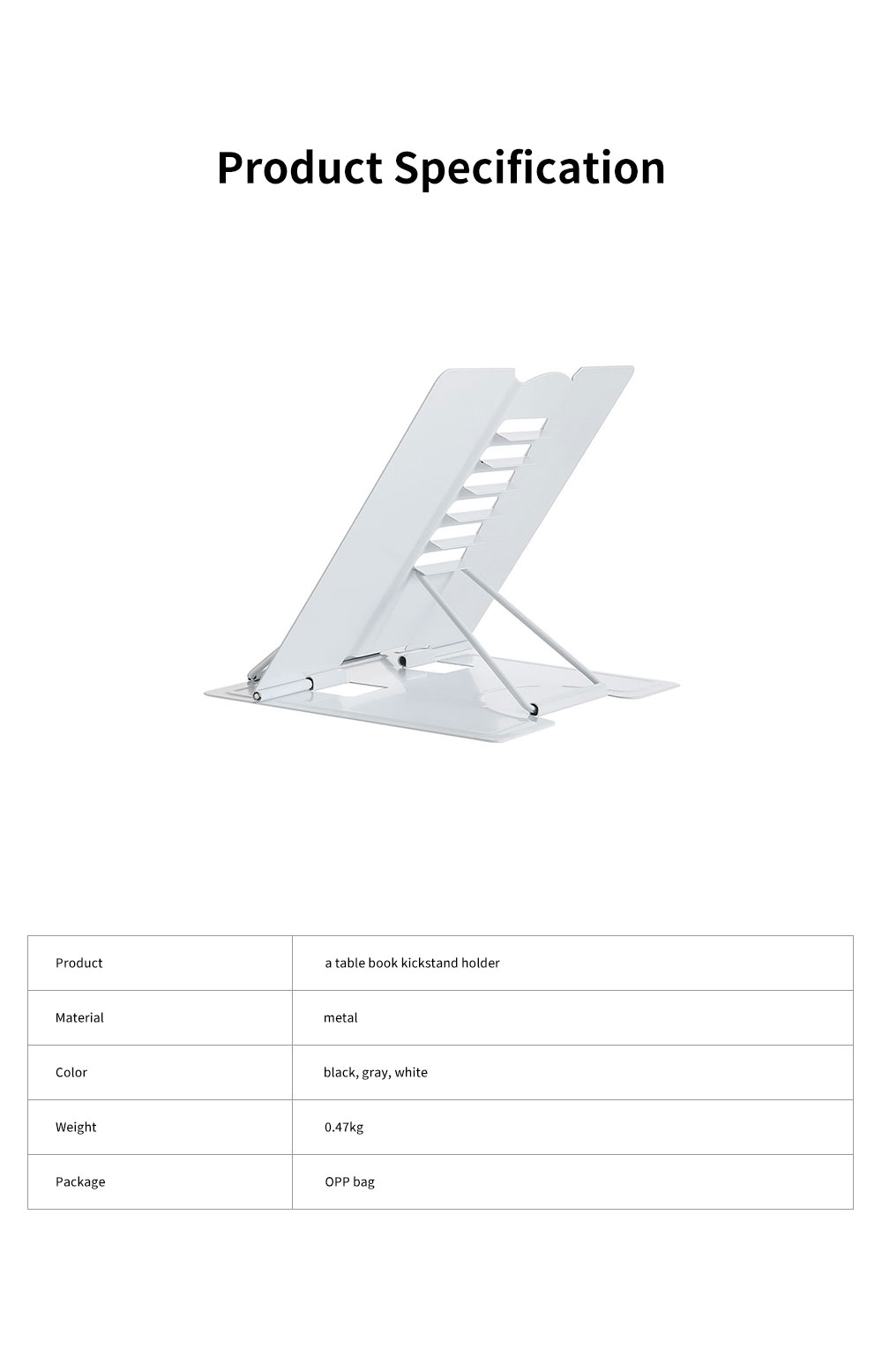 Table Book Stand Holder for Students Kids Teacheres Multifunctional Hand-free Adjustable Desktop Book Kickstand Easy Reading 5