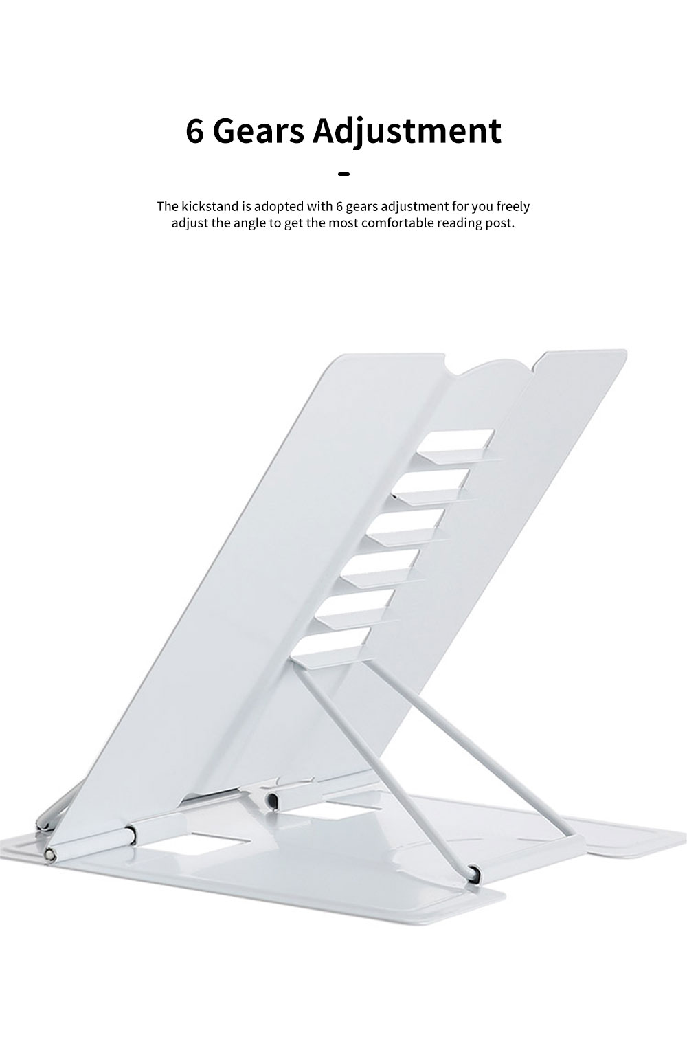 Table Book Stand Holder for Students Kids Teacheres Multifunctional Hand-free Adjustable Desktop Book Kickstand Easy Reading 1