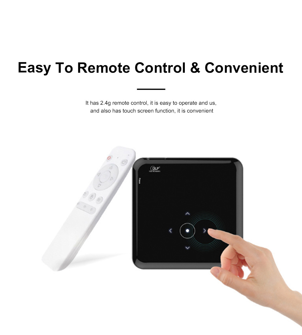 S80 Android Smart Projector HD 1080P 854x480 Wireless Miracast Airplay Wifi Display Smartphone Mini Pocket Projector 1
