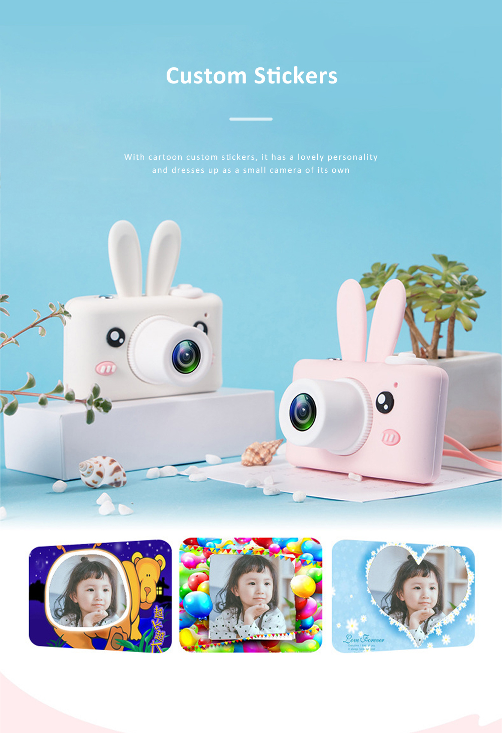 2inch HD Screen Electronic Camera For Kids Children Creative Digital Camera Tft Display Video Recording Kids Camera With Silicone Soft Cover 6