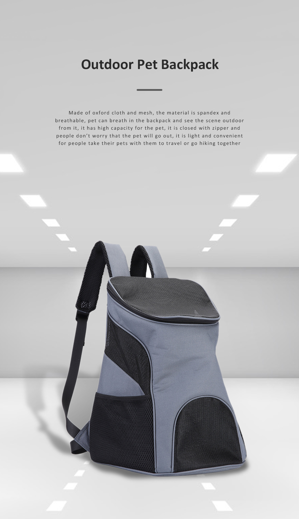 Breathable Pet Carrier Backpack For Small Cats And Dogs With Safety Strap For Travel Hiking  Outdoor Use 0