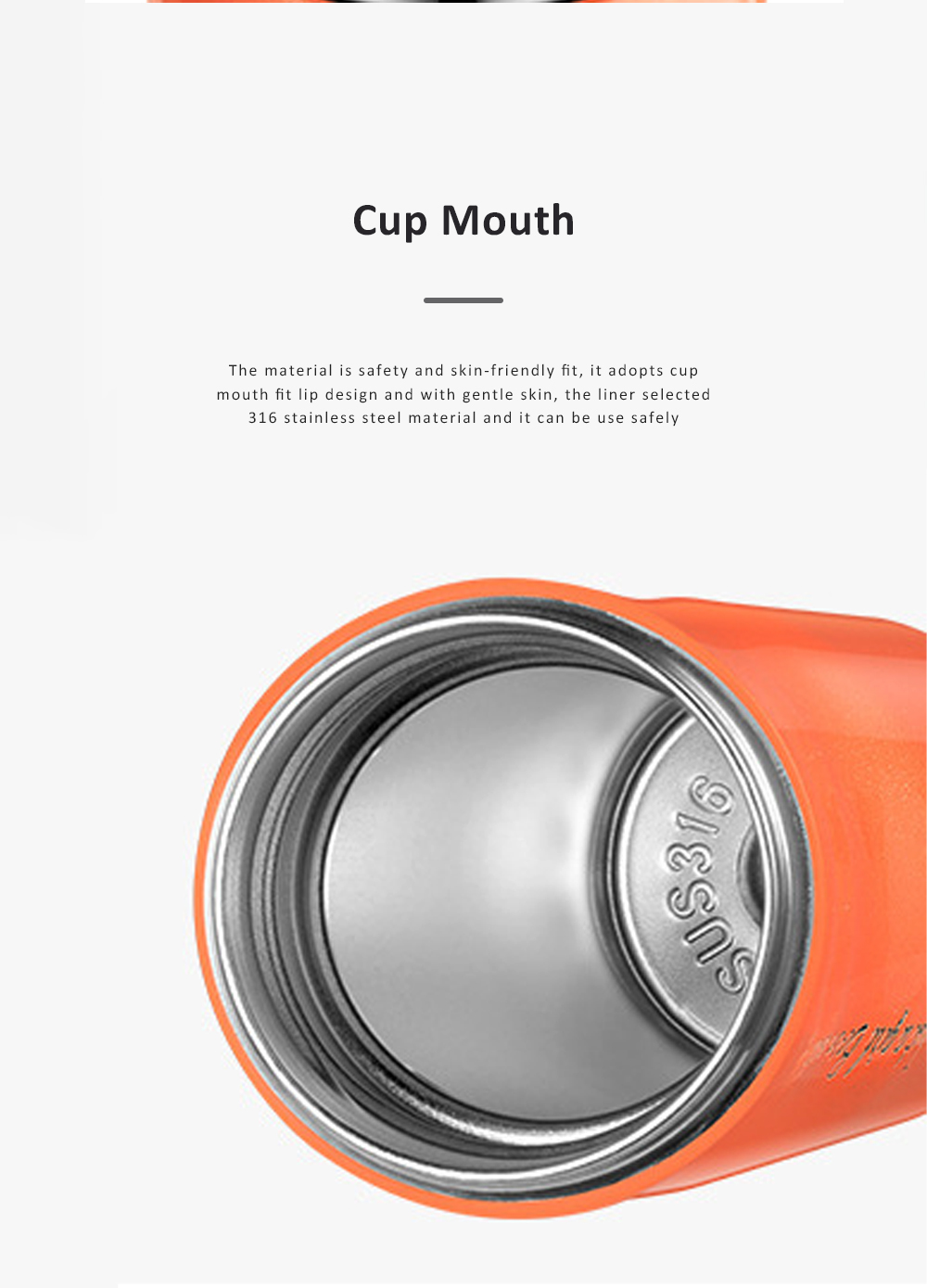 Fashion Lipstick Shape Cup Portable Double Wall Stainless Steel Vacuum Outdoor Insulated Water Bottle 2