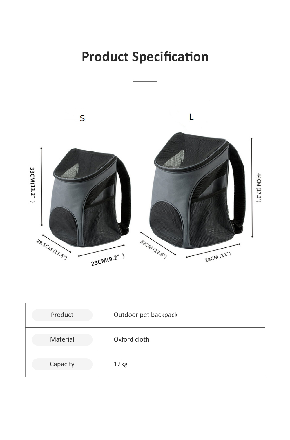 Breathable Pet Carrier Backpack For Small Cats And Dogs With Safety Strap For Travel Hiking  Outdoor Use 6