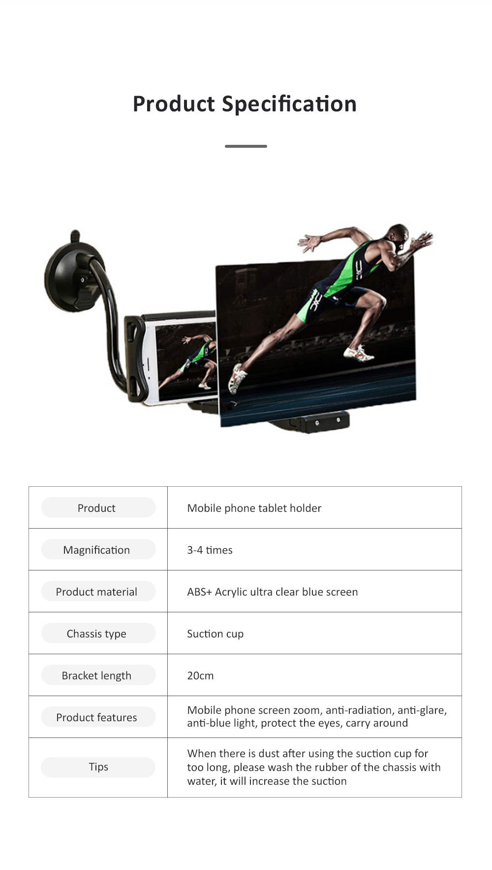 Adjustable Flexible Portable Lazy Cell Phone Support Stand Mobile Phone Tablet Holder And Screen Amplifier 7