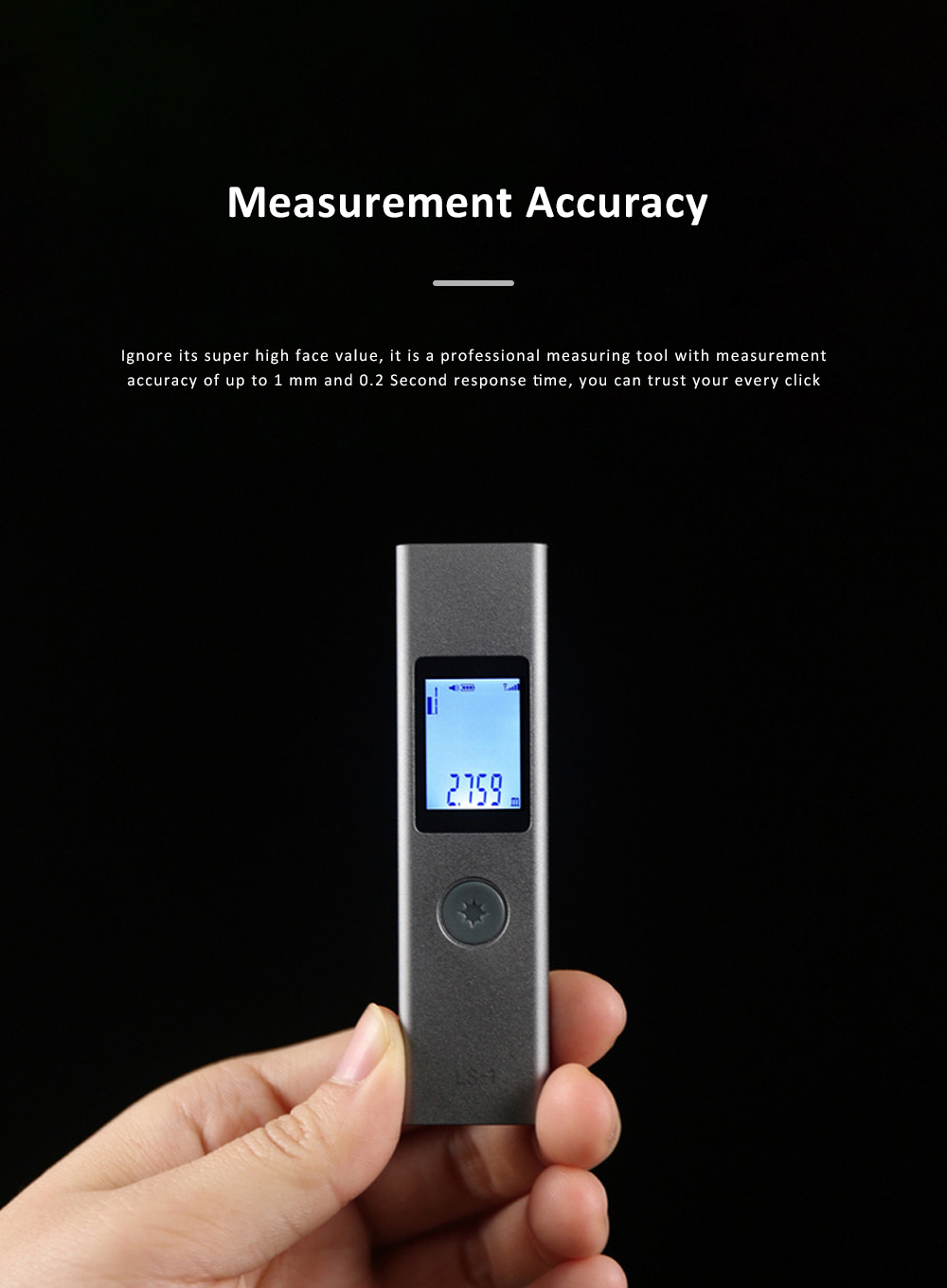 LS1 Hand Held Laser Distance Meter Mini Laser Rangefinder Laser Tape Range Finder Diameter Measure 40M 5