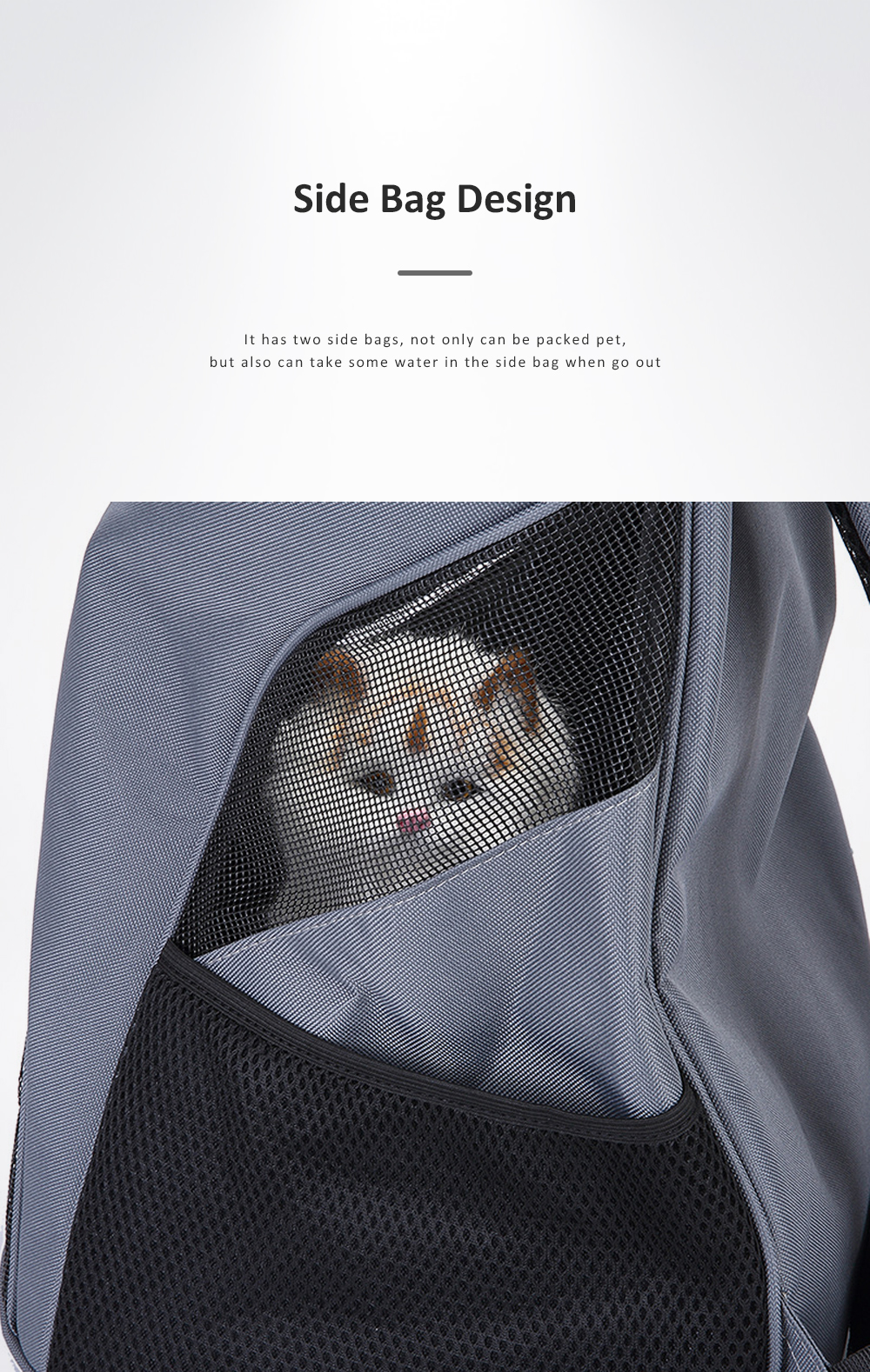 Breathable Pet Carrier Backpack For Small Cats And Dogs With Safety Strap For Travel Hiking  Outdoor Use 4