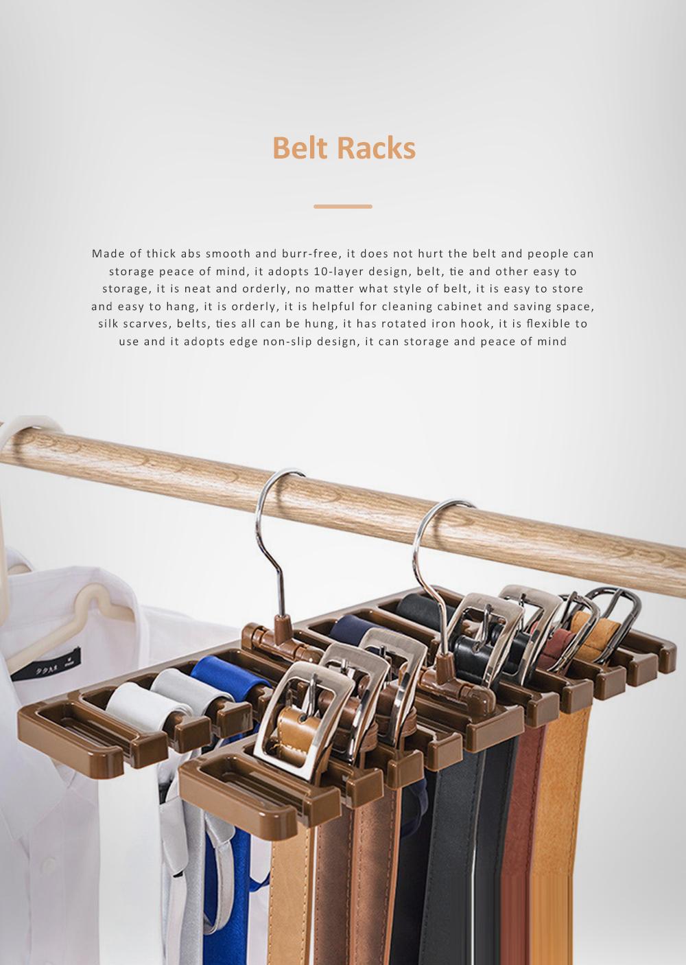 Hot Sale Tie Storage Rack Hanger Belt Racks Scarf Racks Abs Iron Large Belt Storage 0