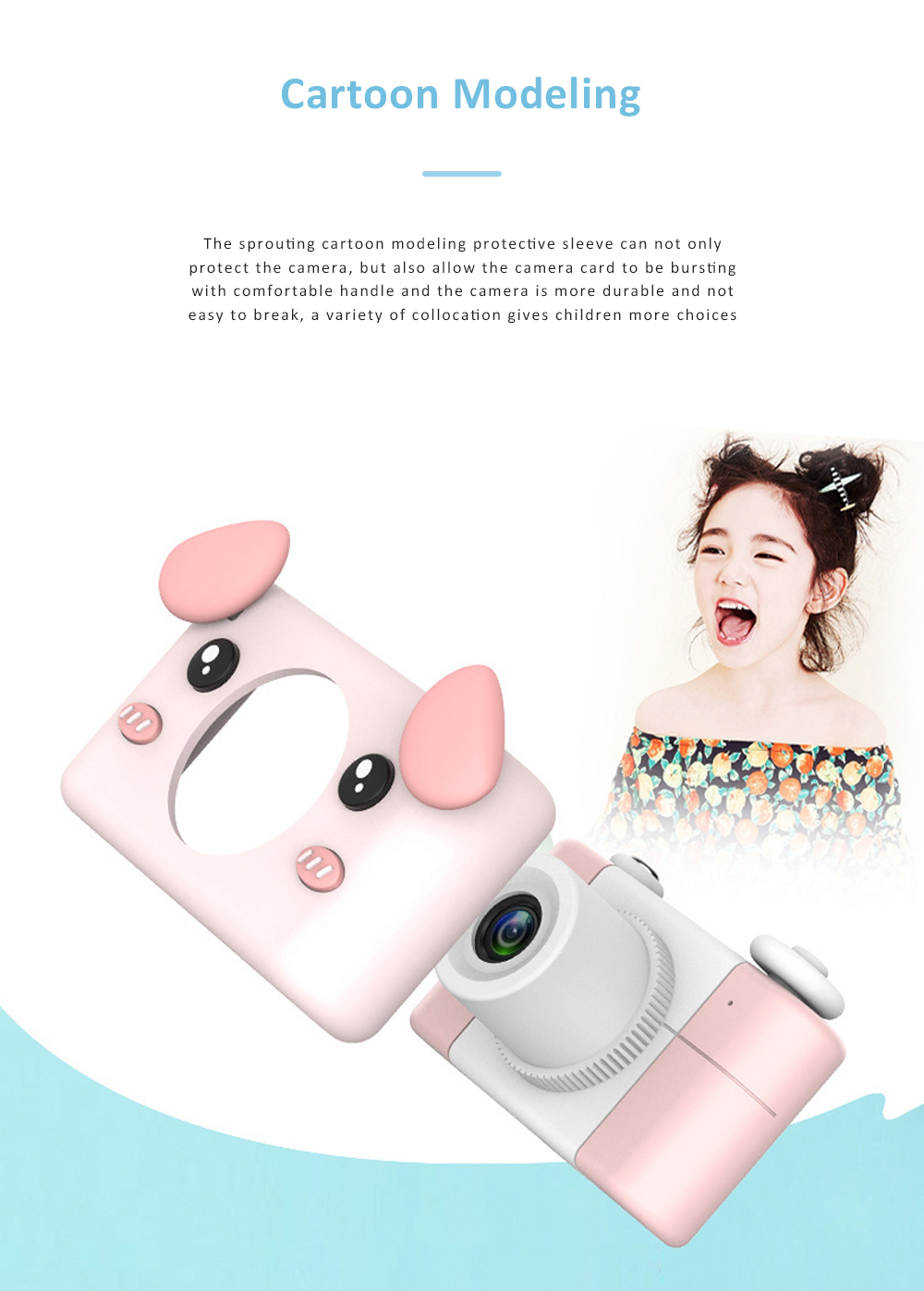 2inch HD Screen Electronic Camera For Kids Children Creative Digital Camera Tft Display Video Recording Kids Camera With Silicone Soft Cover 2