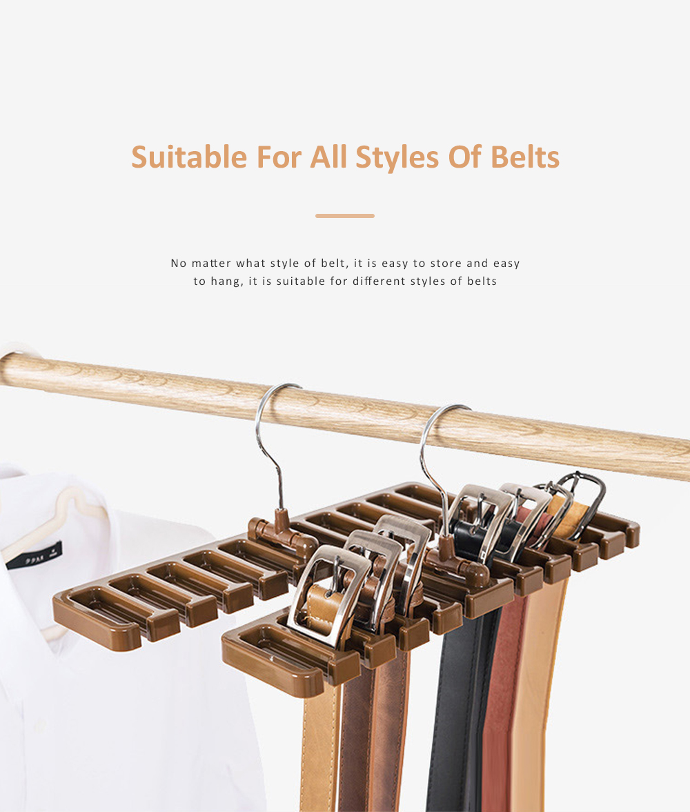 Hot Sale Tie Storage Rack Hanger Belt Racks Scarf Racks Abs Iron Large Belt Storage 4
