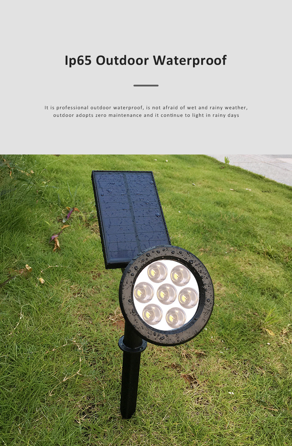 7 LED Outdoor Color Changing Landscape Lights Outdoor Garden Solar Path Light Powered LED Lamp Lawn Light 2