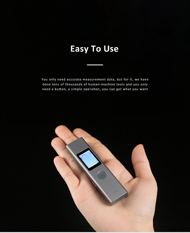 LS1 Hand Held Laser Distance Meter Mini Laser Rangefinder Laser Tape Range Finder Diameter Measure 40M 2