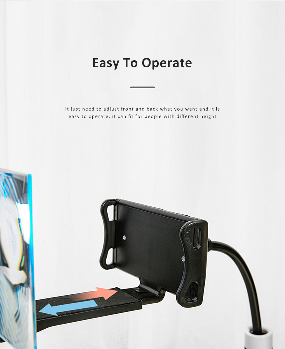 Adjustable Flexible Portable Lazy Cell Phone Support Stand Mobile Phone Tablet Holder And Screen Amplifier 2
