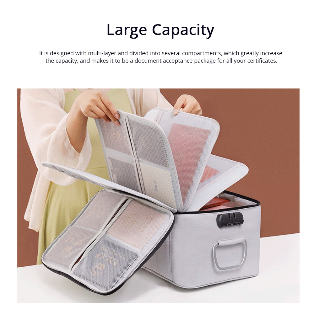Multifunctional Card Organizer Kit Document Package with Large Capacity and Detachable Inter-layer Passport Packing Box 3