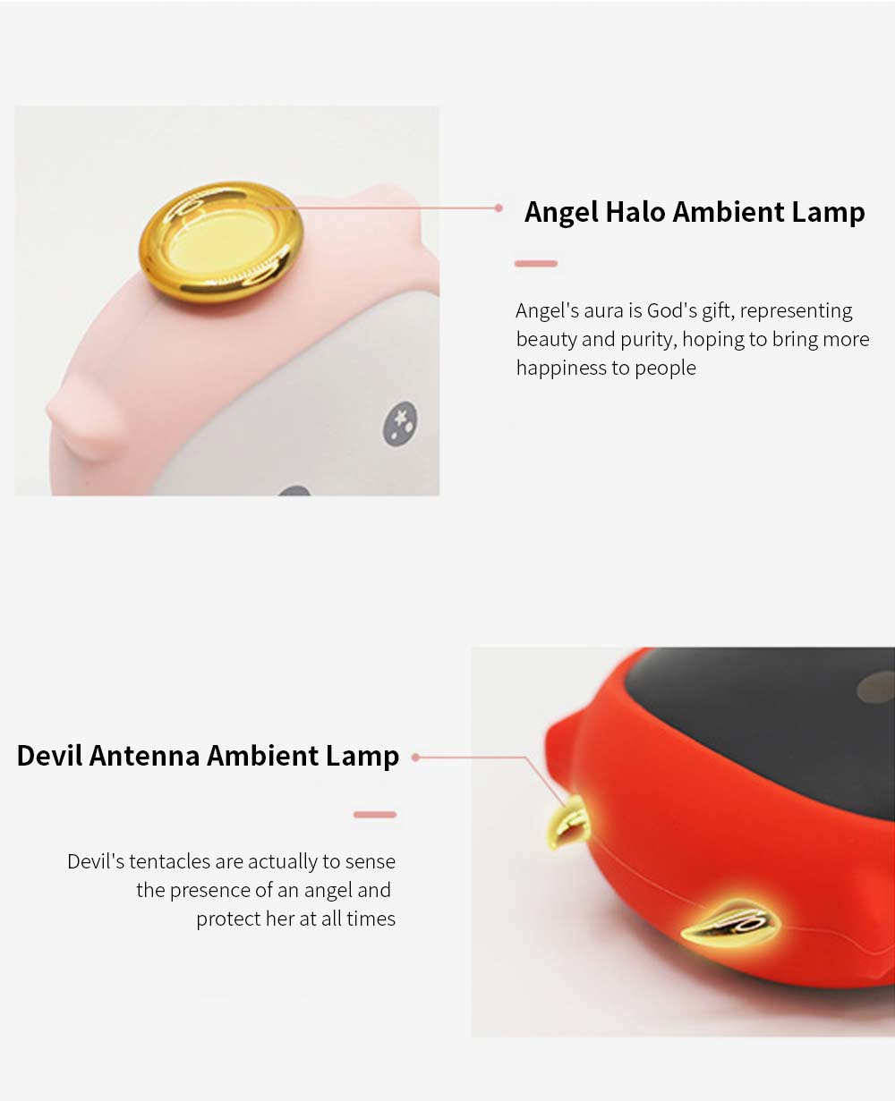 Portable Mini USB Charging Hand Warmer Power Supply Angel Demon Christmas Gifts Body Power for Cold Weather Heating 6