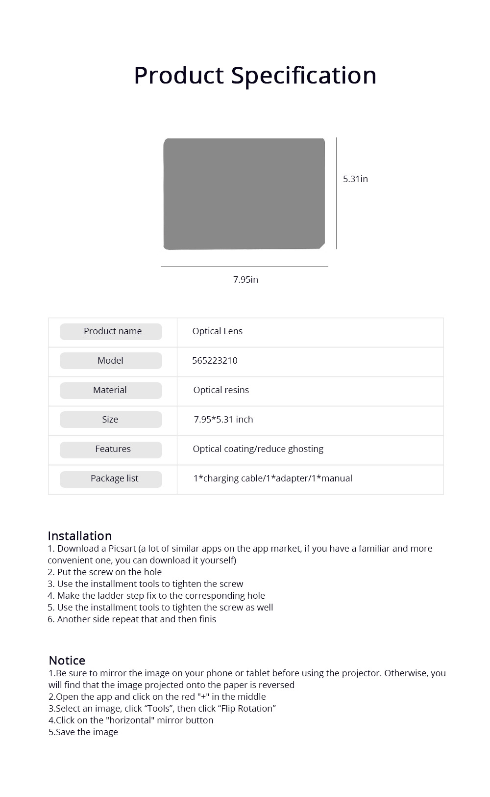 Optical Drawing Board Adjustable Brightness Portable Sketching Template Tool Image Projection Board for Artists Beginners 7