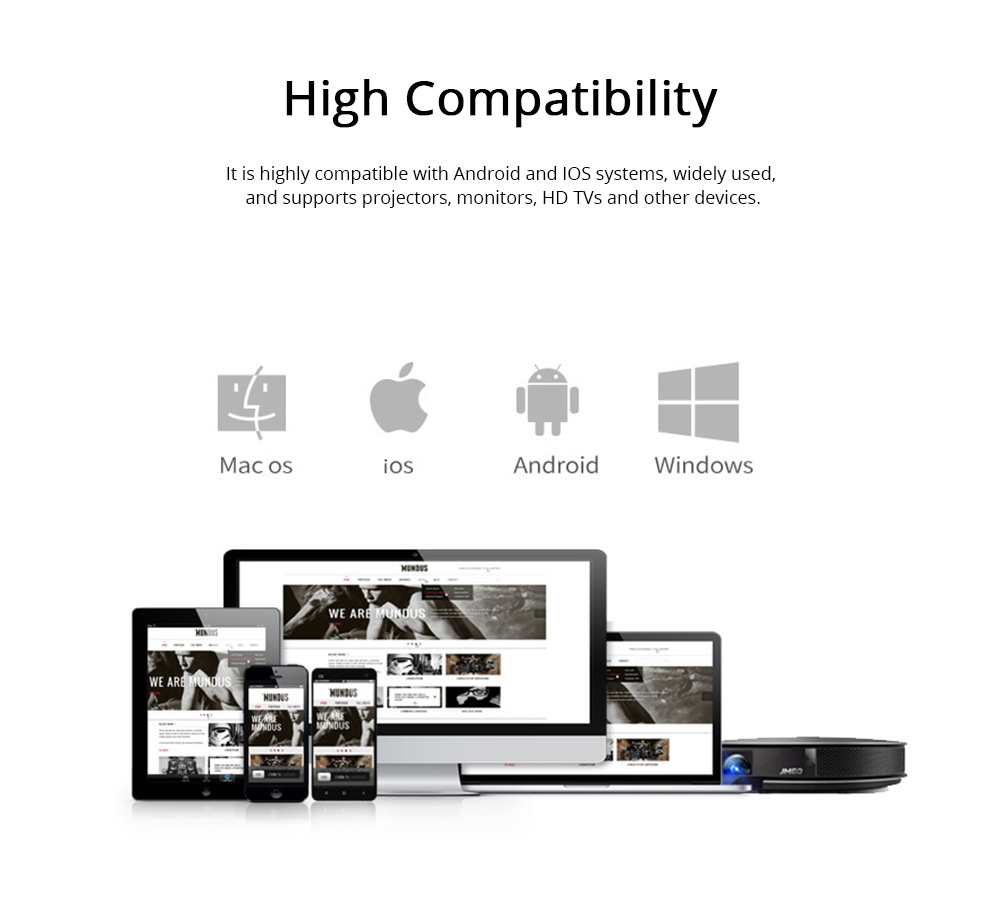 Wireless HD Projector Display Mobile Phone Connected TV Artifact Screen Saver Projector Converter Display Receiver 7