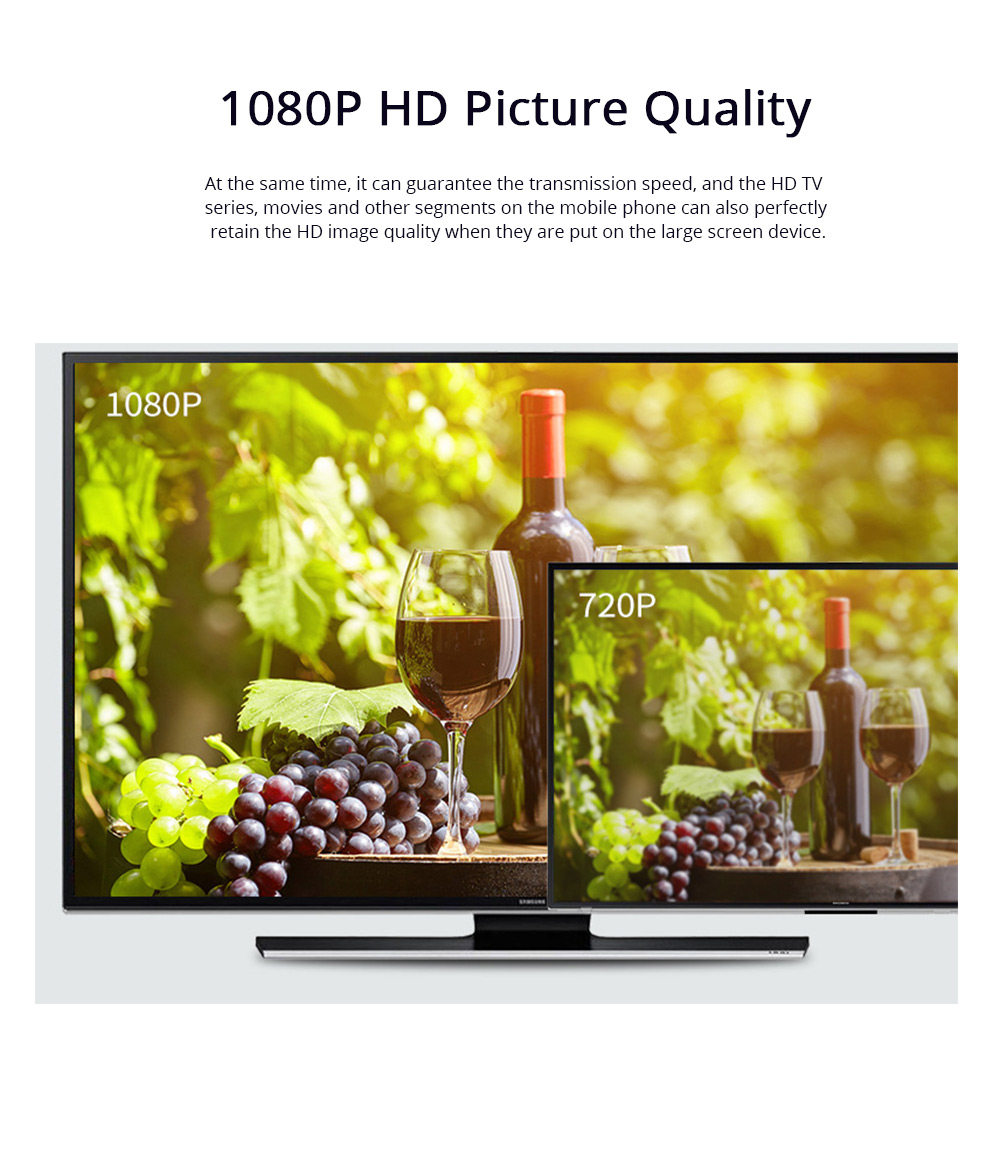 Wireless HD Projector Display Mobile Phone Connected TV Artifact Screen Saver Projector Converter Display Receiver 5