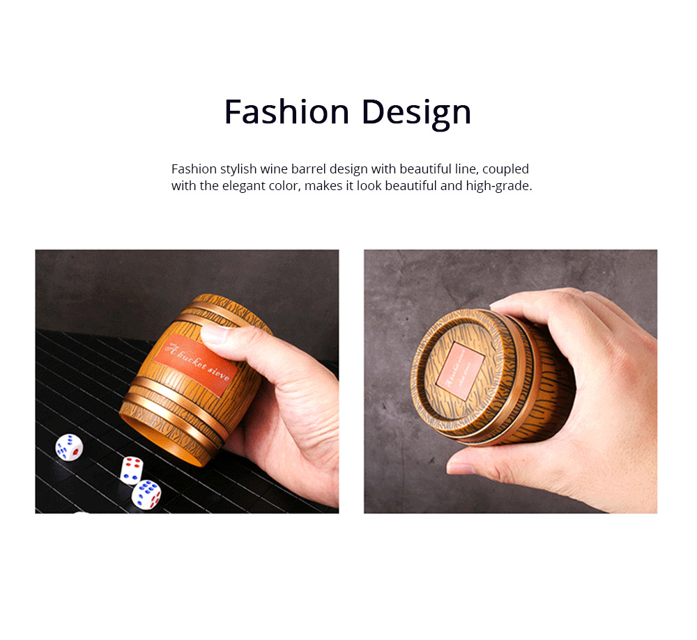 Thicken Dice Cup Fashion Stylish Wine Barrel Shaped Dice Shaker Holder for Playing Dice Games in Bar KTV Nightclub 1