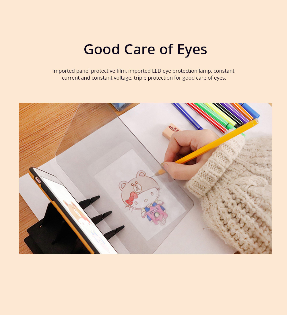Optical Drawing Board Adjustable Brightness Portable Sketching Template Tool Image Projection Board for Artists Beginners 2