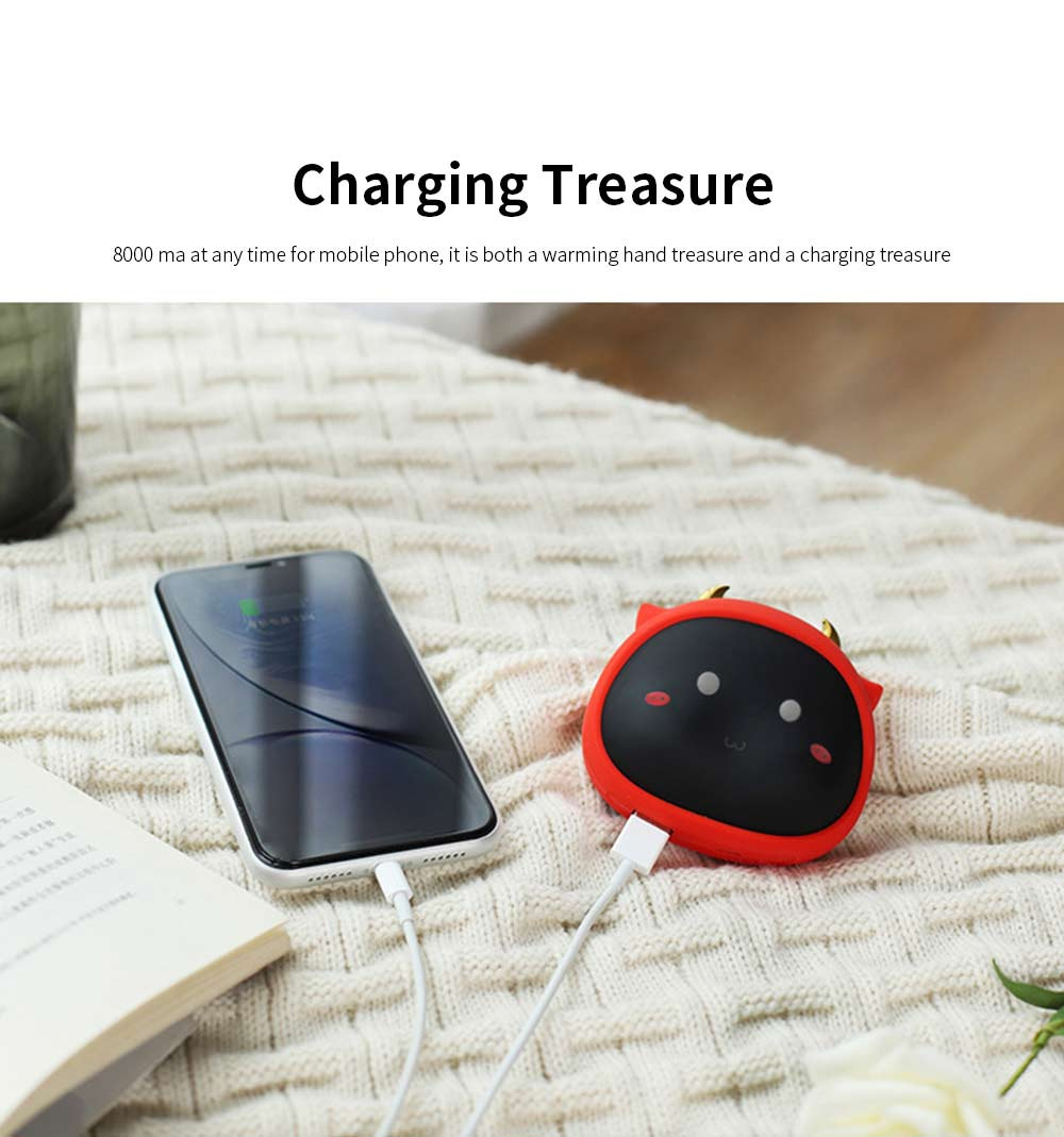 Portable Mini USB Charging Hand Warmer Power Supply Angel Demon Christmas Gifts Body Power for Cold Weather Heating 3