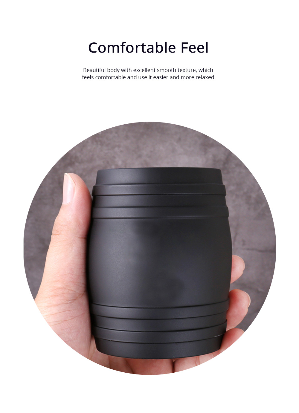 Thicken Dice Cup Fashion Stylish Wine Barrel Shaped Dice Shaker Holder for Playing Dice Games in Bar KTV Nightclub 3