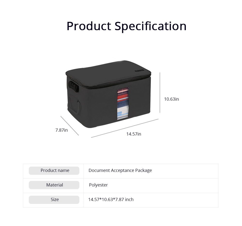 Multifunctional Card Organizer Kit Document Package with Large Capacity and Detachable Inter-layer Passport Packing Box 6
