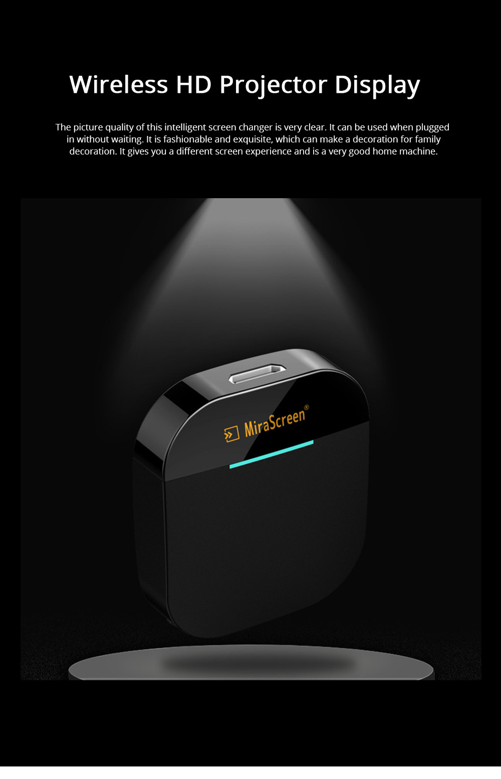 Wireless HD Projector Display Mobile Phone Connected TV Artifact Screen Saver Projector Converter Display Receiver 0