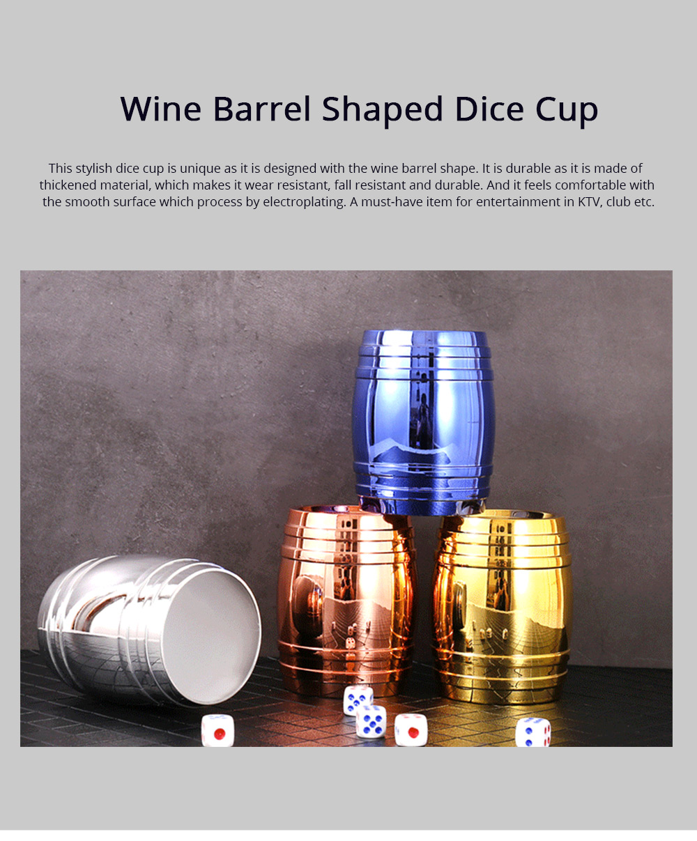 Thicken Dice Cup Fashion Stylish Wine Barrel Shaped Dice Shaker Holder for Playing Dice Games in Bar KTV Nightclub 0