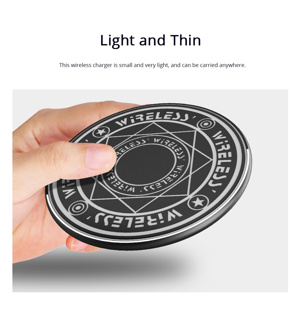 Magic Array Wireless Charger Mini Running Lamp 10W Applicable for Huawei XiaoMI iPhone 8 or iPhone X Ultrathin Wireless Charger Pad 1