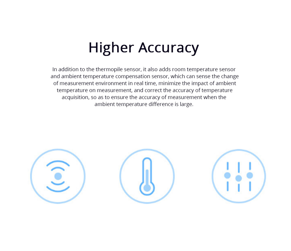 XIAOMI iHealth Thermometer Intelligent Thermometer for Children and Adults Infrared Electronic Thermometer 3