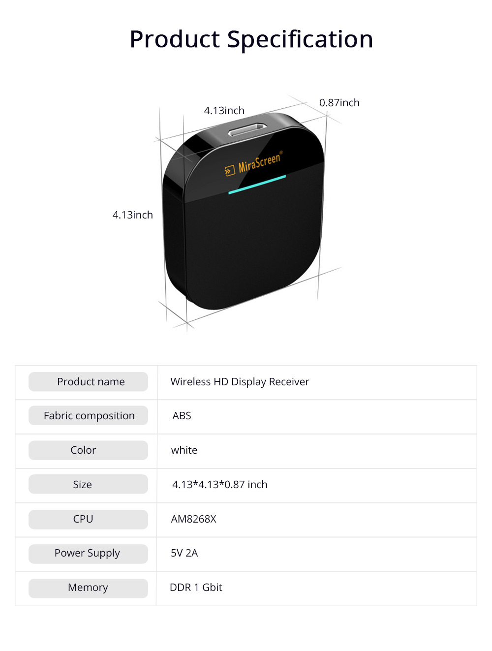 Wireless HD Projector Display Mobile Phone Connected TV Artifact Screen Saver Projector Converter Display Receiver 8