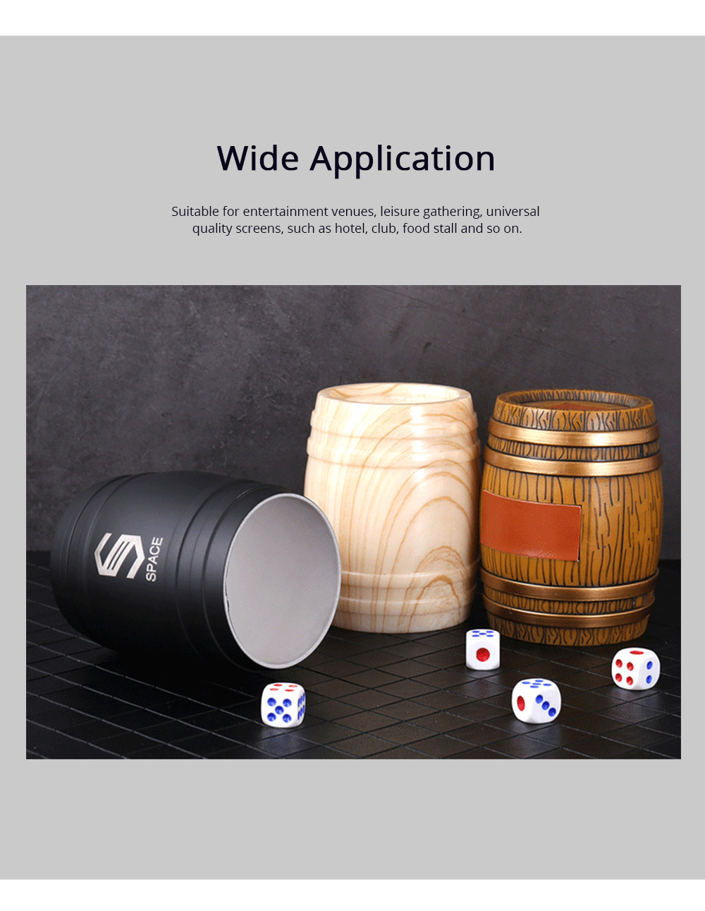 Thicken Dice Cup Fashion Stylish Wine Barrel Shaped Dice Shaker Holder for Playing Dice Games in Bar KTV Nightclub 4